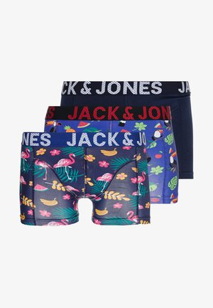 JACSUMMER TROPIC ANIMALS TRUNKS 3 PACK - Boxerky - surf the web/medieval blue