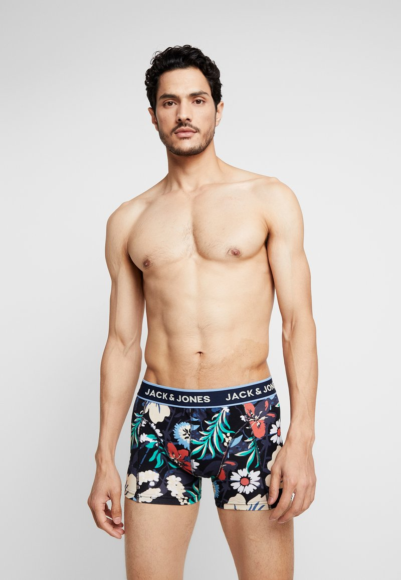 Jack & Jones - JACSTRIP FLOWER TRUNKS 3 PACK - Shorty - black/ensign blue
