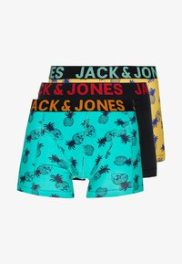 Jack & Jones - JACSKULLPINE SMALL TRUNKS 3 PACK - Shorty - black/habañero gold/spring bud - 3
