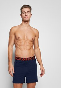 Jack & Jones - JACSOLID BOXERS 2 PACK - Shorty - navy blazer/navy blazer - 0