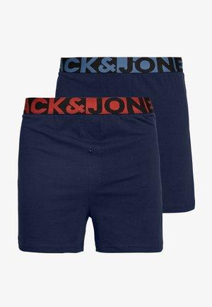 JACSOLID BOXERS 2 PACK - Onderbroeken - navy blazer/navy blazer