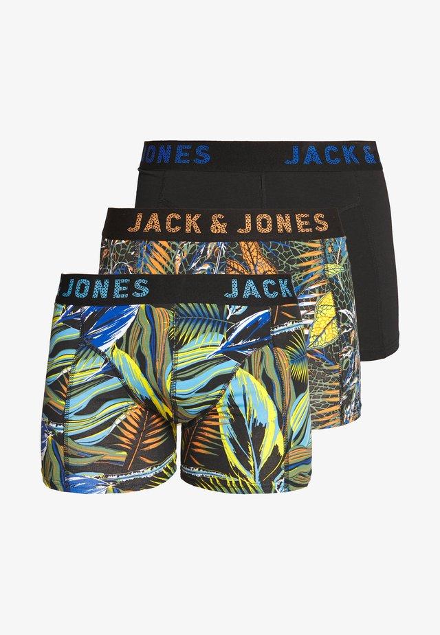 JACLEAVES TRUNKS 3 PACK - Underkläder - black/nautical blue/tomato cream