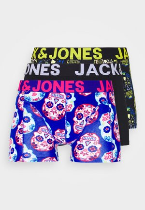 JACCOLORFULL SKULL TRUNK 3 PACK - Culotte - blazing yellow/surf the web/black