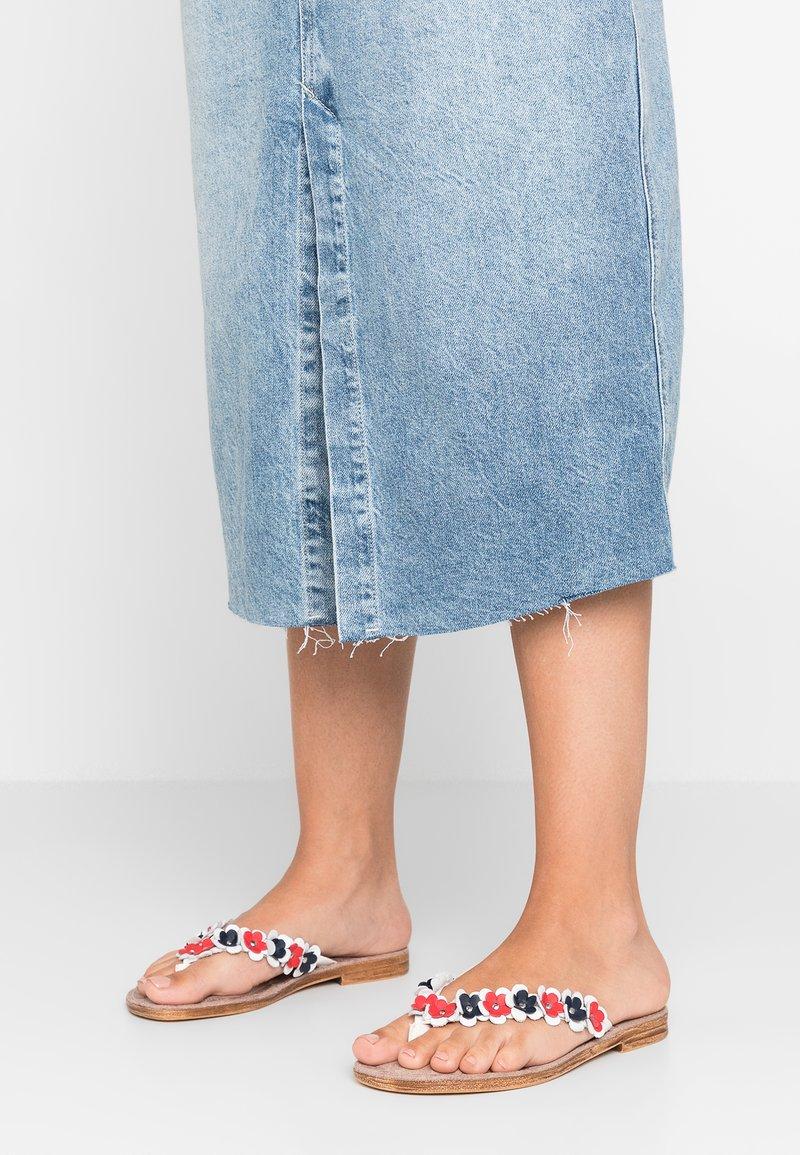 Jana - T-bar sandals - white/red/blue