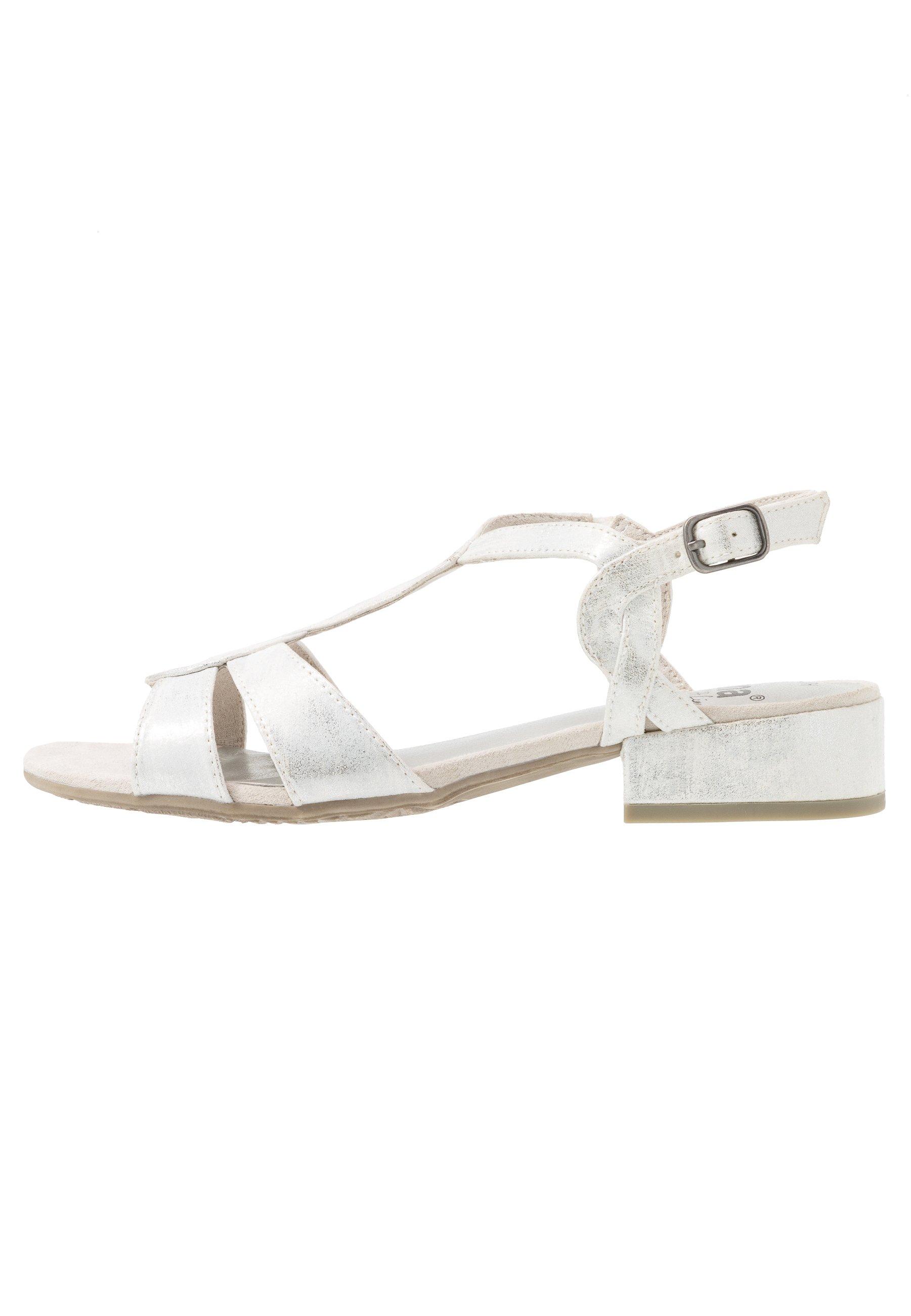 Jana Riemensandalette - white/metallic cLboTC