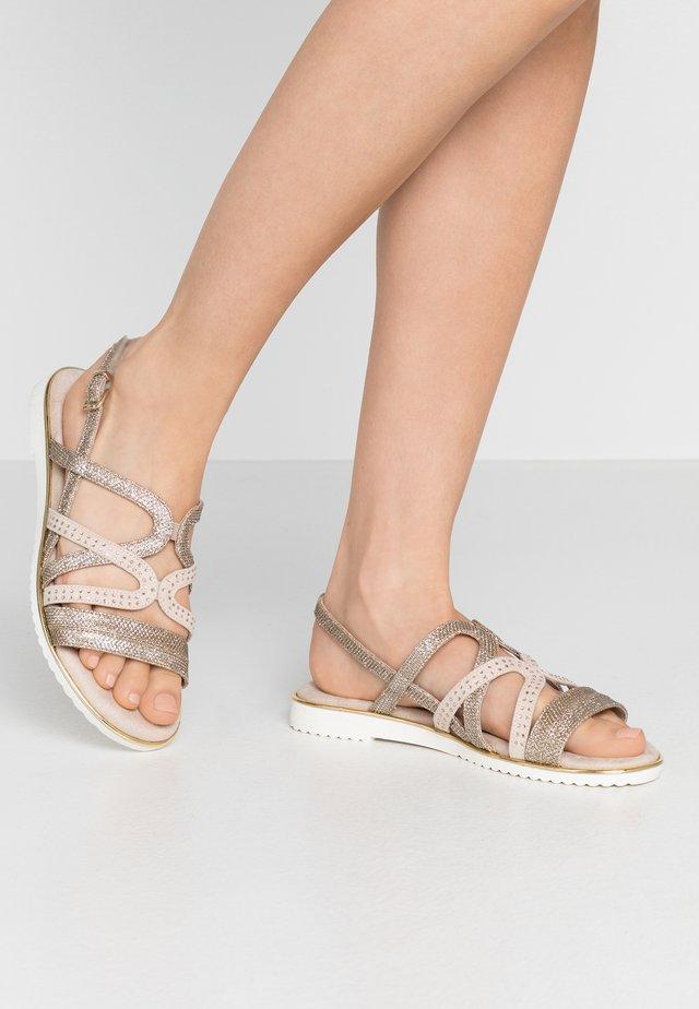 Sandals - gold metallic