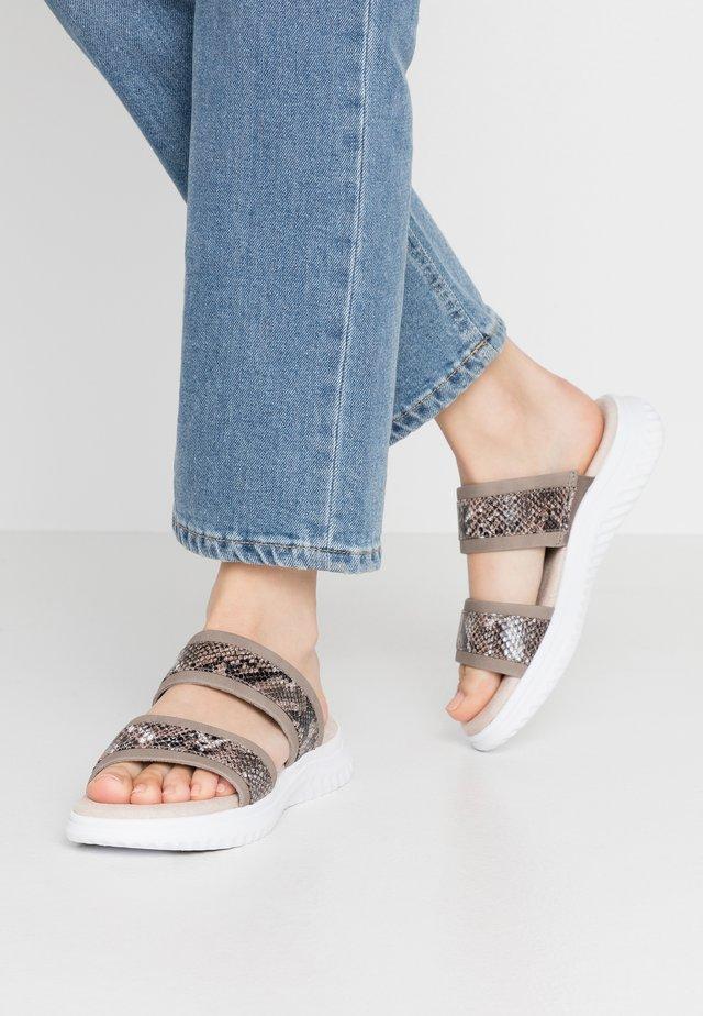 Pantolette flach - choco