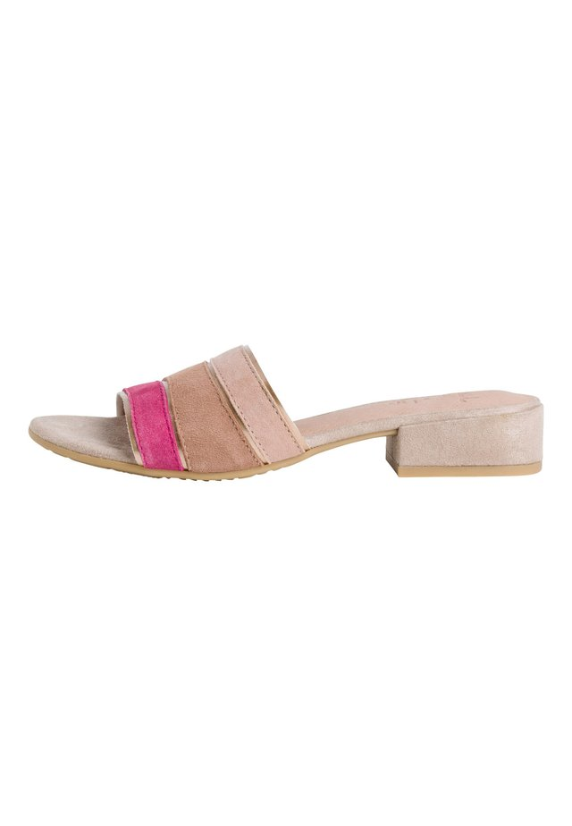Mules - pink comb