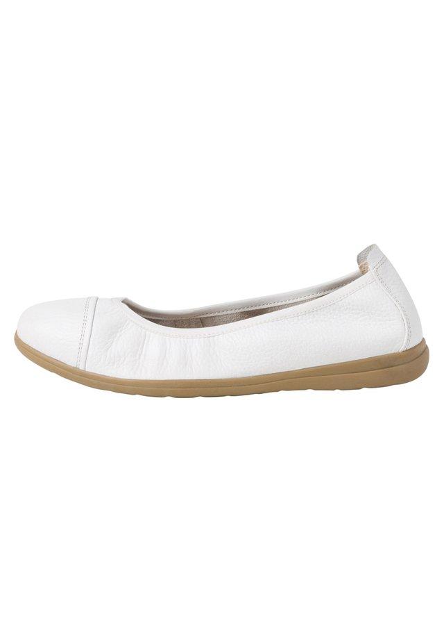 BALLERINA - Ballerinaskor - white uni