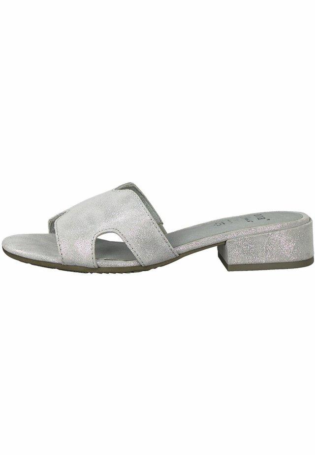 JANA - Mules - grey/silver