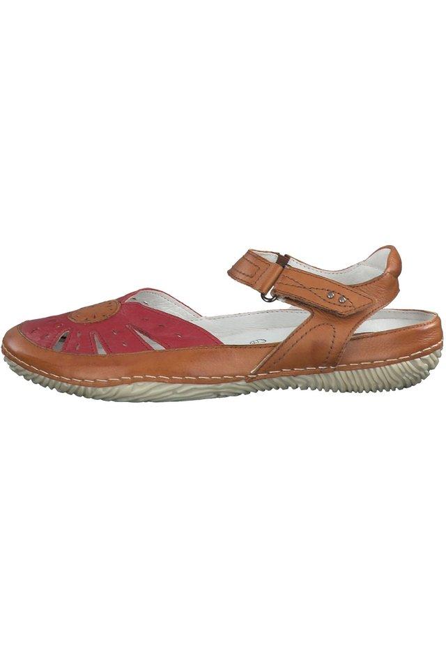 JANA - Walking sandals - red comb