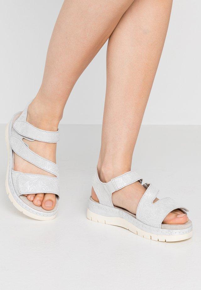 Sandalen met plateauzool - grey/silver