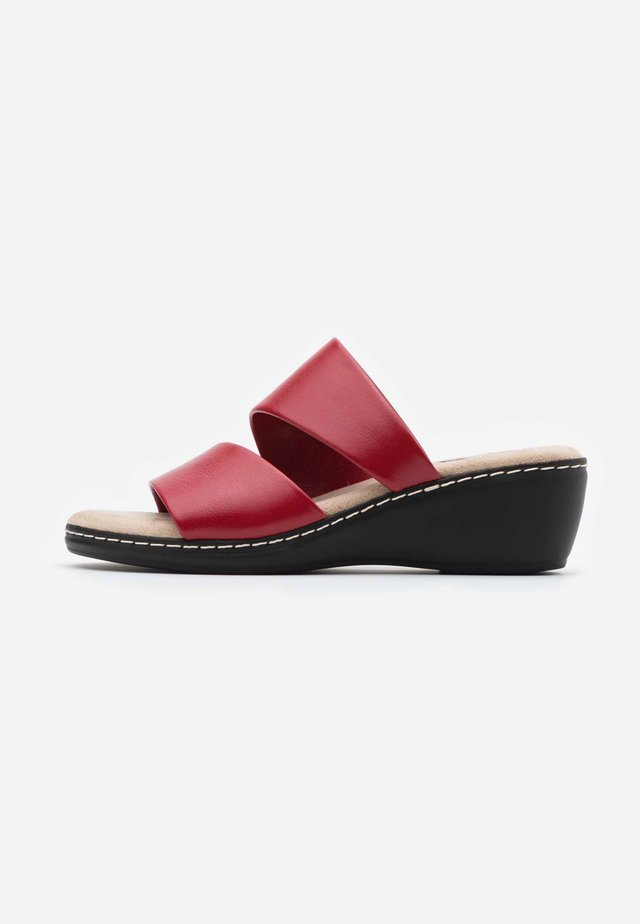 SLIDES - Mules à talons - red