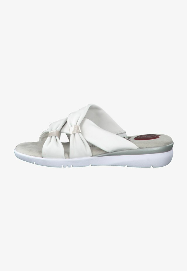 Mules - white/grey