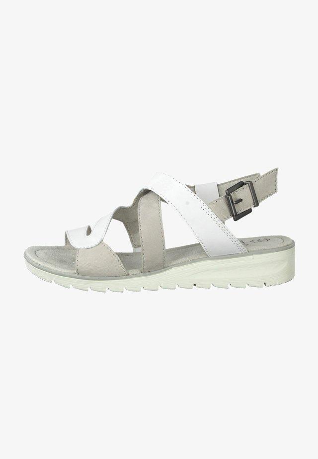 Sandals - white/grey
