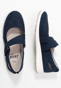 Jana - Ankle strap ballet pumps - navy - 3