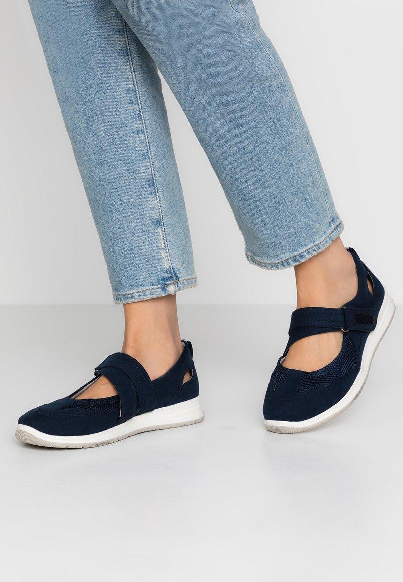 Jana - Ankle strap ballet pumps - navy