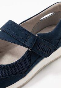Jana - Ankle strap ballet pumps - navy - 2