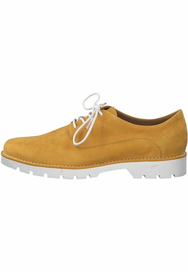 JANA - Lace-up heels - saffron