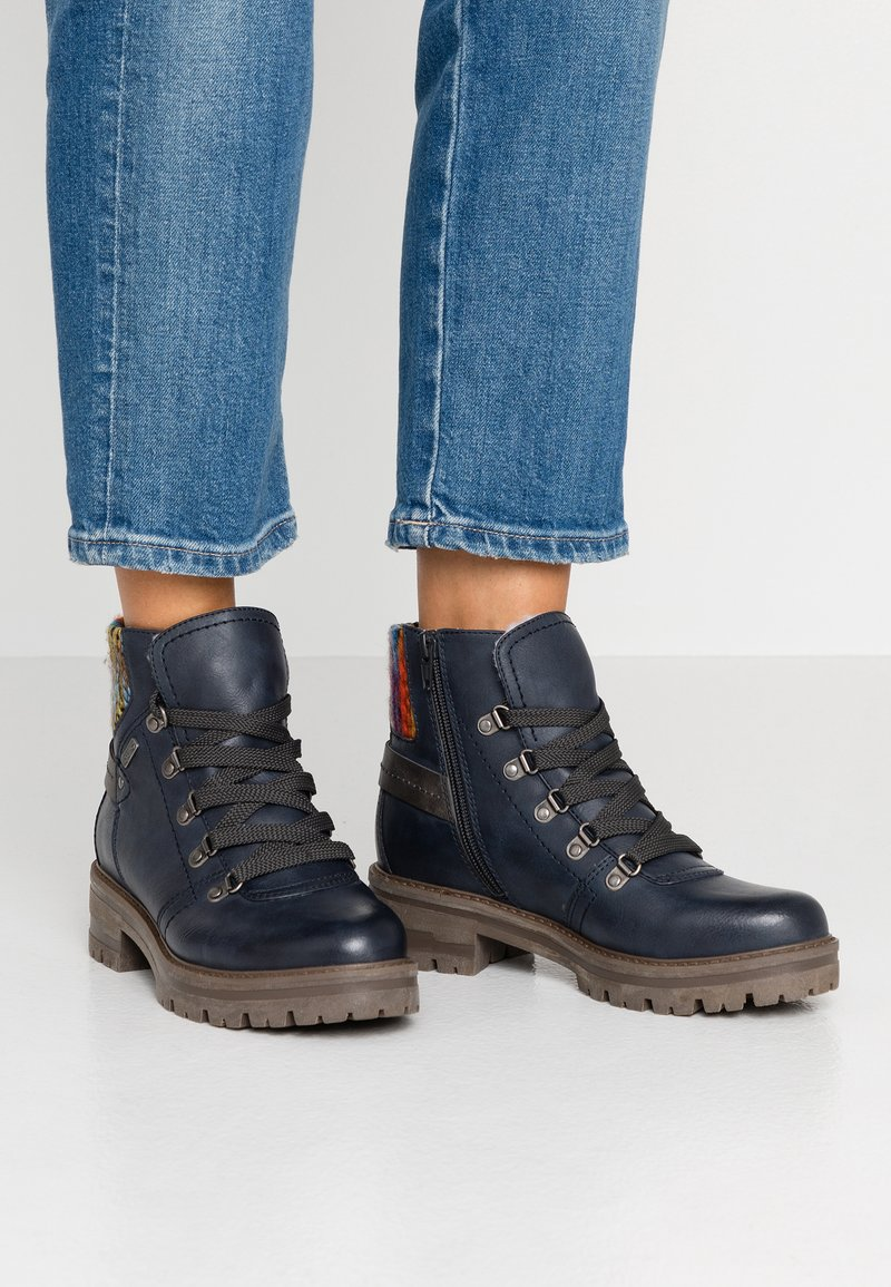 Jana - Lace-up ankle boots - navy