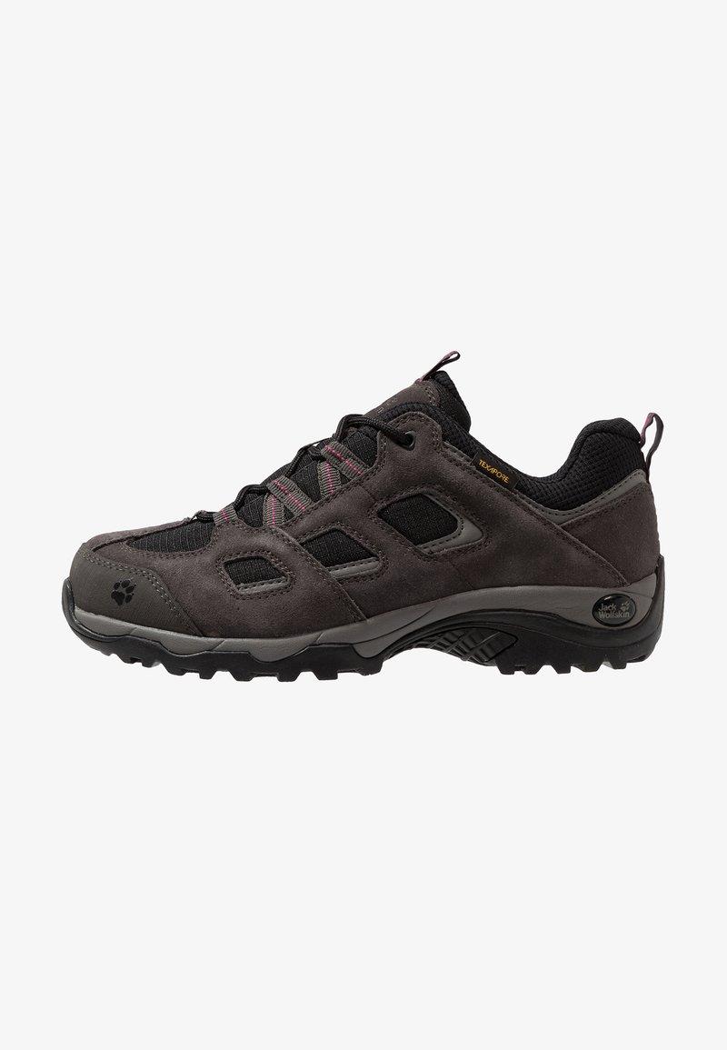 Jack Wolfskin - VOJO HIKE 2 TEXAPORE LOW - Hiking shoes - dark steel/black