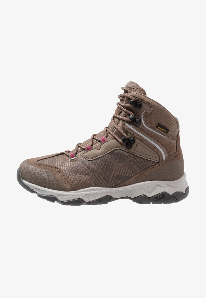 Jack Wolfskin - ROCK HUNTER TEXAPORE MID - Scarpa da hiking - siltstone