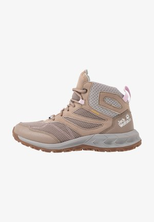 WOODLAND TEXAPORE MID - Hiking shoes - clay/light grey