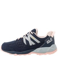 Jack Wolfskin - CASCADE HIKE TEXAPORE LOW - Hiking shoes - dark blue/pink - 0