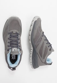 Jack Wolfskin - WOODLAND TEXAPORE LOW - Obuwie hikingowe - grey/light blue - 1