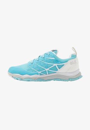 TRAIL BLAZE VENT LOW - Obuwie hikingowe - light blue/white