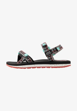 OUTFRESH - Walking sandals - black/aquamarine