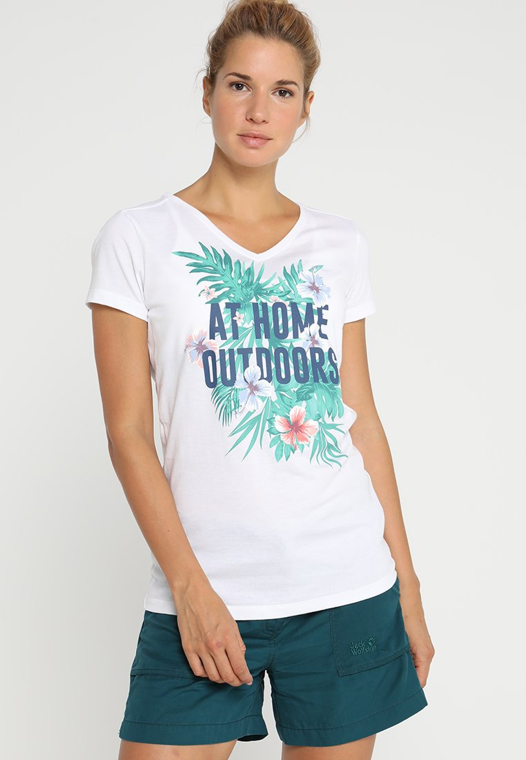 Jack Wolfskin - AT HOME - T-shirt z nadrukiem - white rush