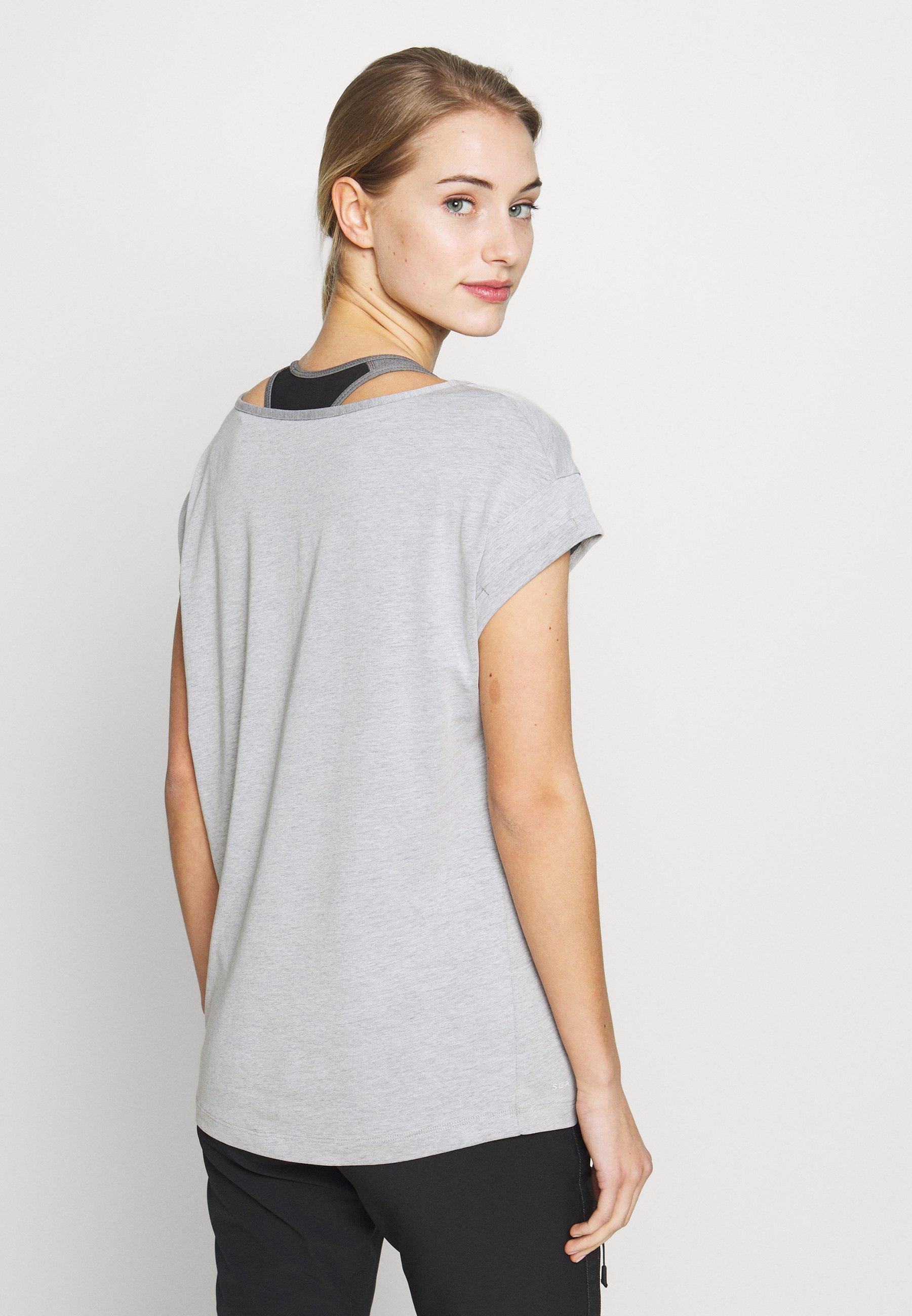 Jack Wolfskin SALT SAND SEA - T-shirt z nadrukiem - slate grey