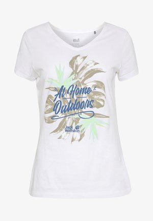 AT HOME  - T-shirt print - white rush