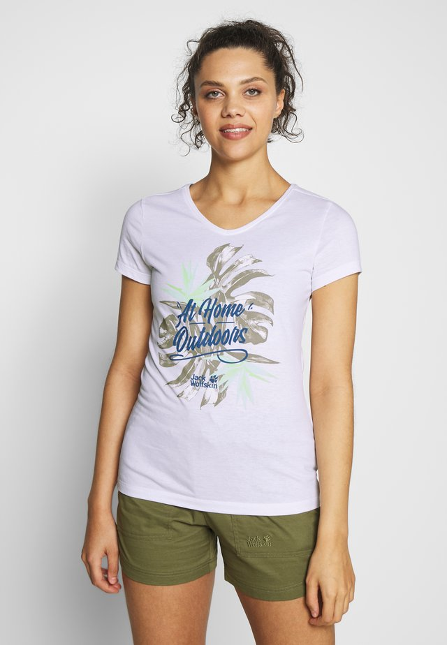 AT HOME  - T-Shirt print - white rush