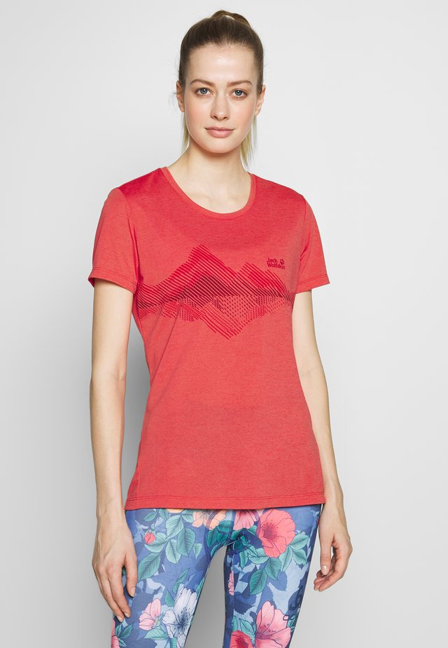CROSSTRAIL GRAPHIC - T-shirts med print - tulip red