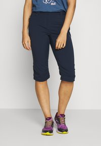Jack Wolfskin - ACTIVATE LIGHT 3/4 PANTS - 3/4 sports trousers - midnight blue - 0