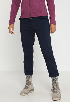 DESERT ROLL UP PANTS - Długie spodnie trekkingowe - midnight blue