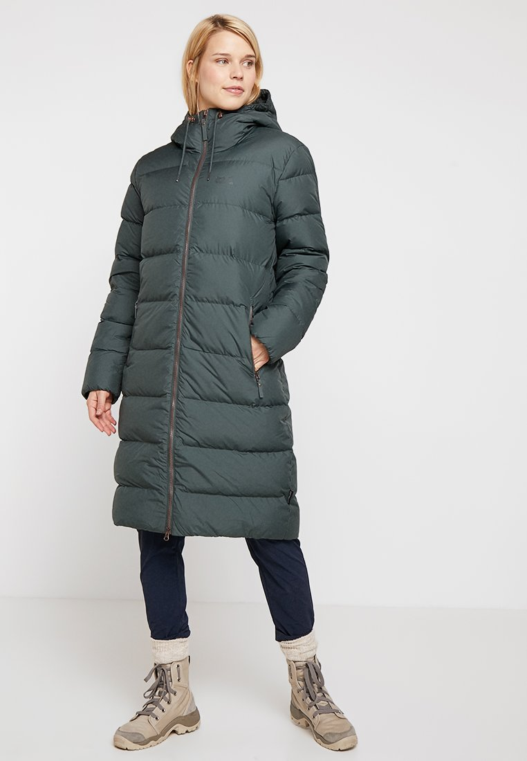 Jack Wolfskin - CRYSTAL PALACE COAT - Daunenmantel - greenish grey