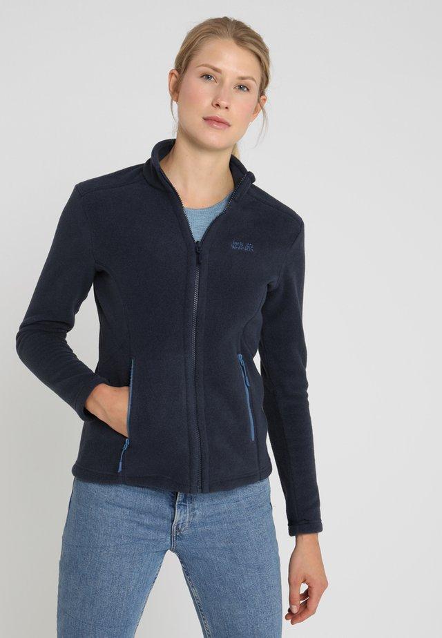 W MOONRISE JKT - Fleece jacket - midnight blue