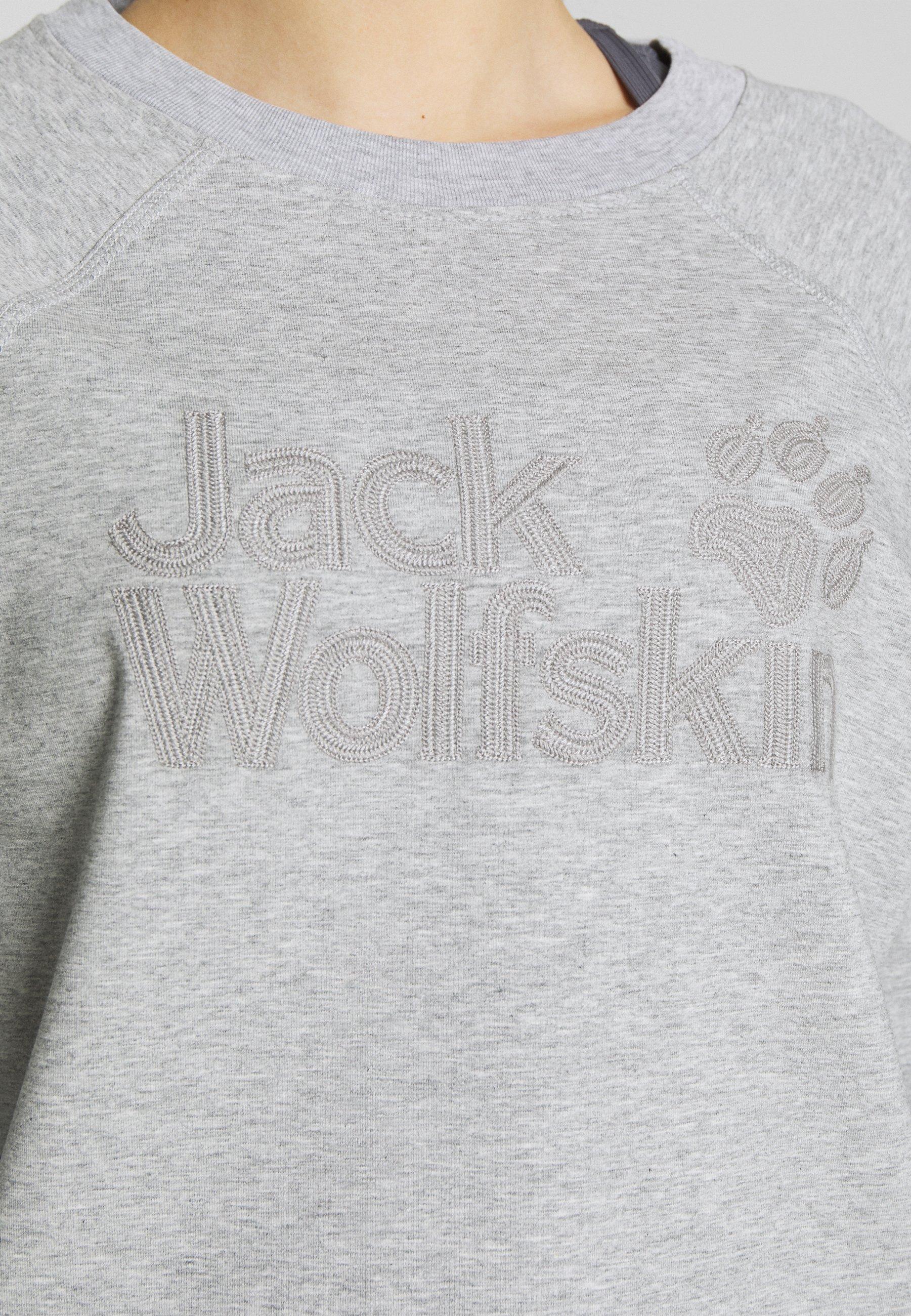 Jack Wolfskin LOGO - Bluza - light grey