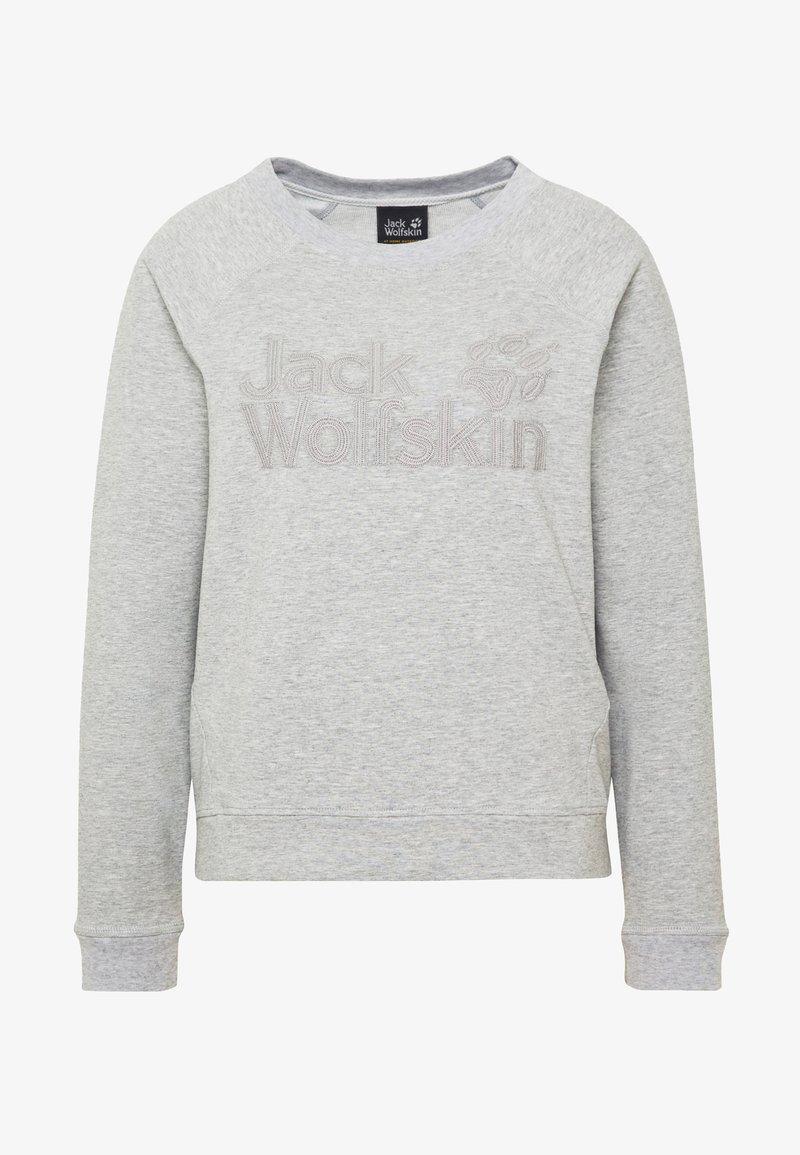 Jack Wolfskin LOGO - Sweatshirt - light grey