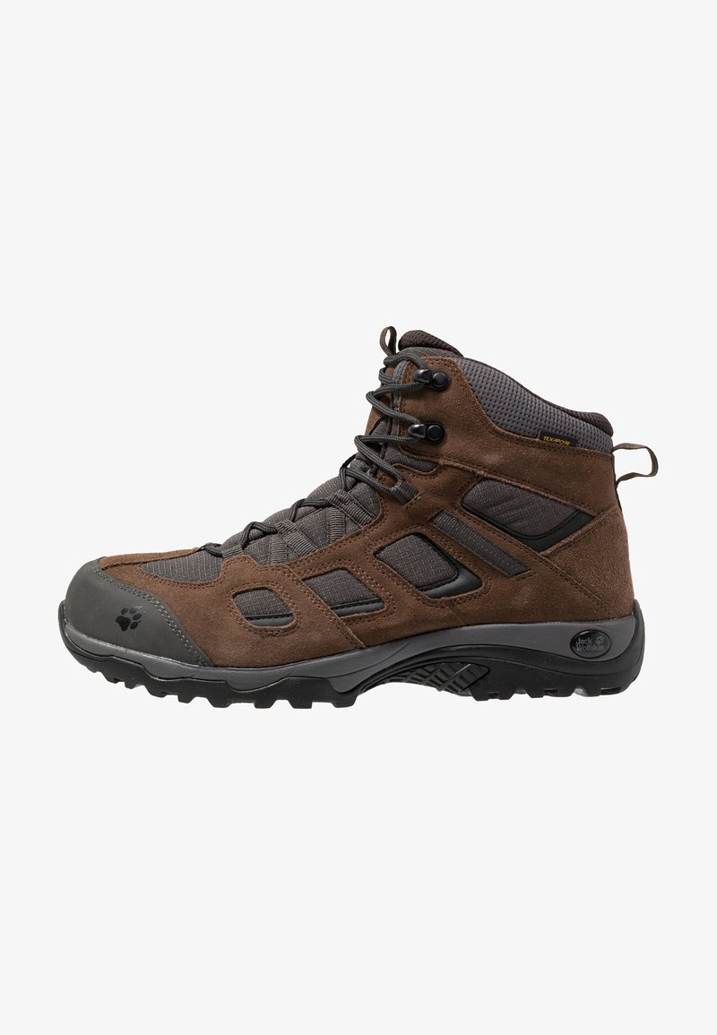 Jack Wolfskin - VOJO HIKE 2 TEXAPORE MID - Hiking shoes - dark wood