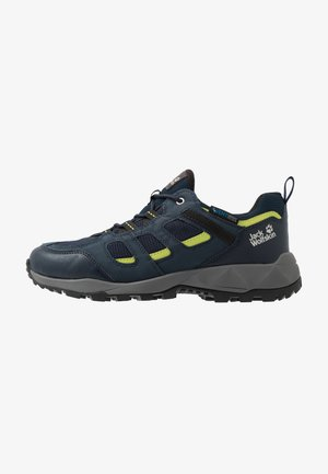 VOJO HIKE XT VENT LOW - Hiking shoes - dark blue/lime