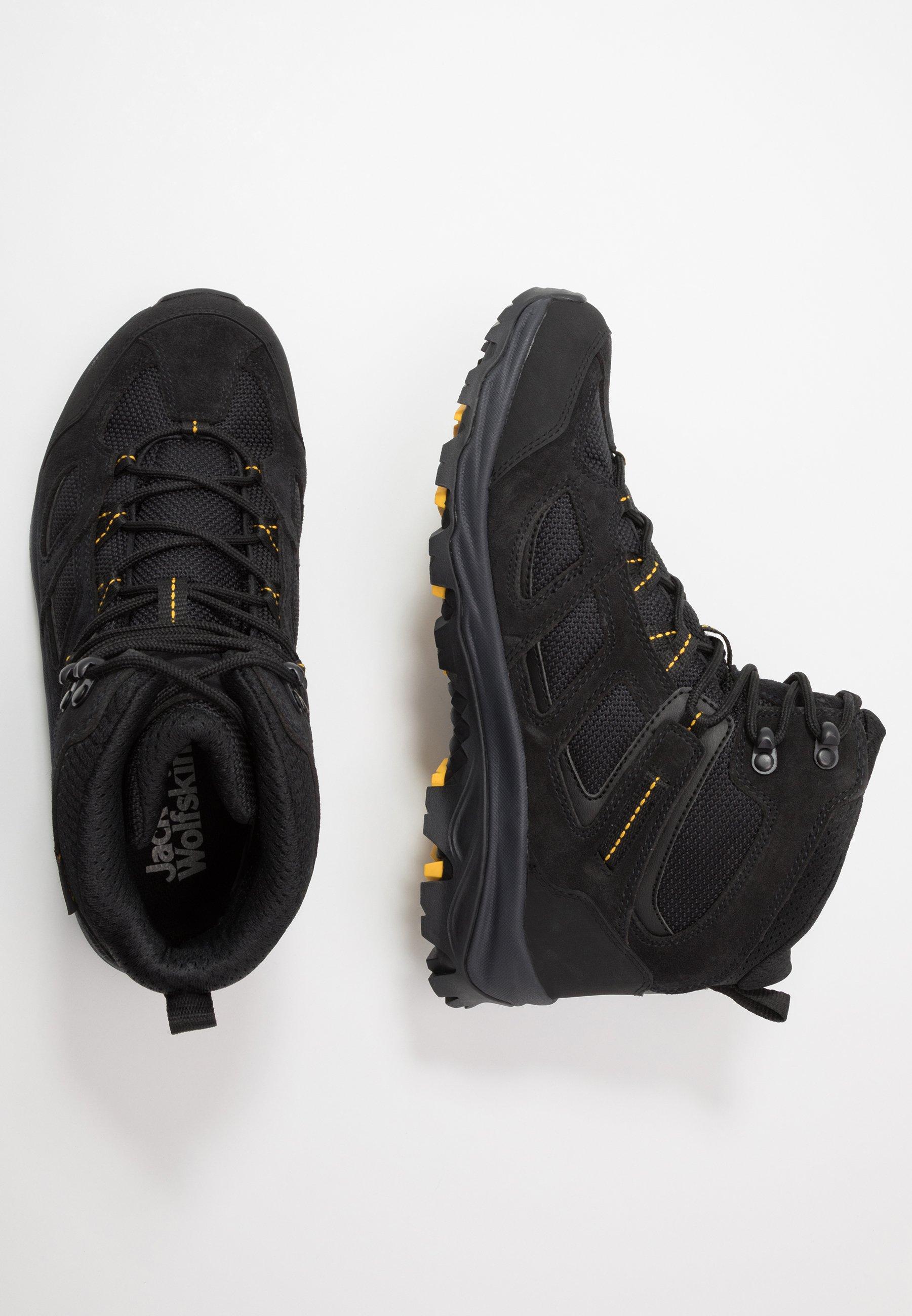 Jack Wolfskin VOJO 3 TEXAPORE MID - Hiking shoes - black/burly yellow