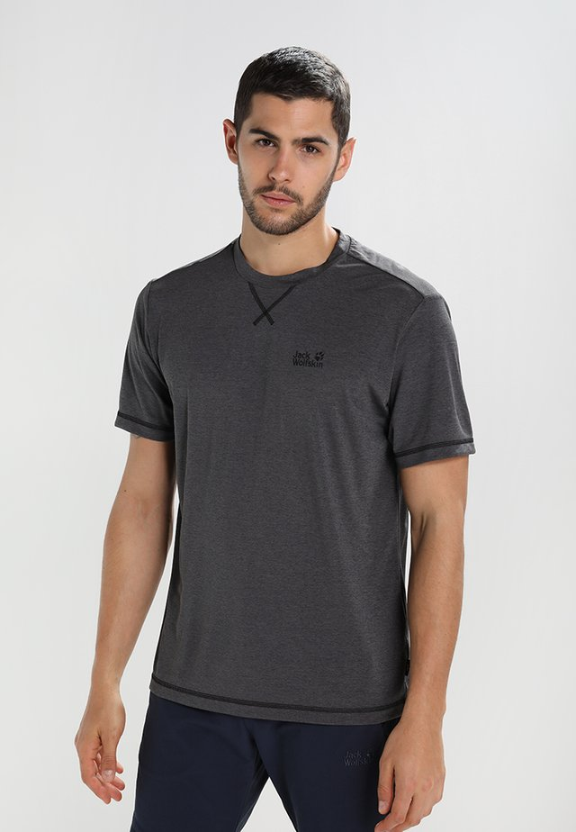 CROSSTRAIL MEN - Camiseta básica - dark steel