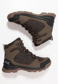 Jack Wolfskin - COLD TERRAIN TEXAPORE MID - Winter boots - coconut brown/black - 1