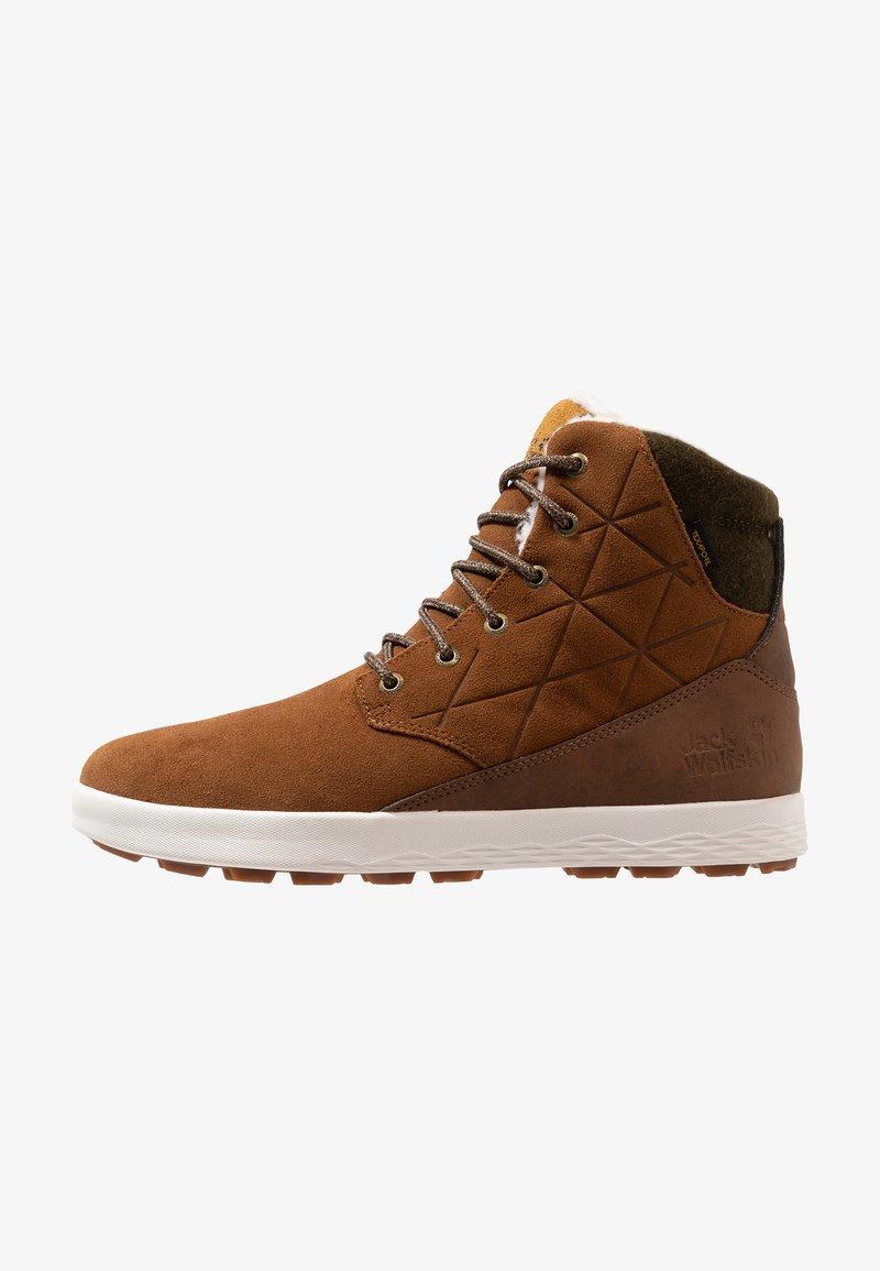 Jack Wolfskin - AUCKLAND WT TEXAPORE HIGH - Winter boots - desert brown/white