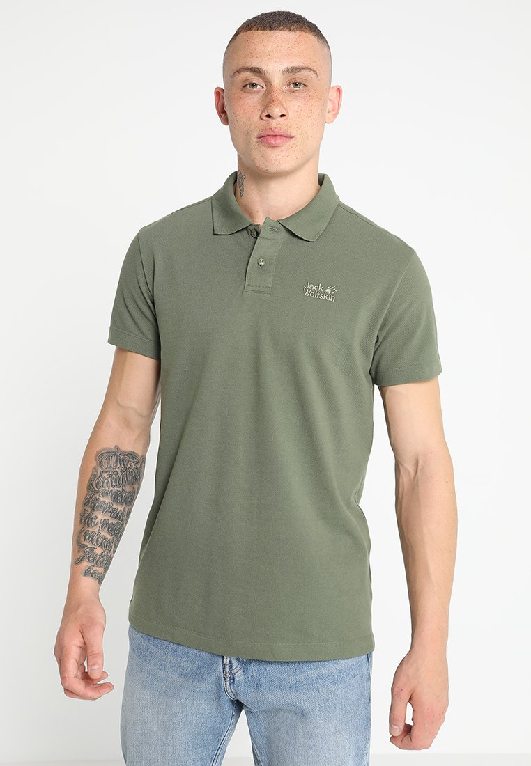 Jack Wolfskin - MEN - Polo shirt - woodland green