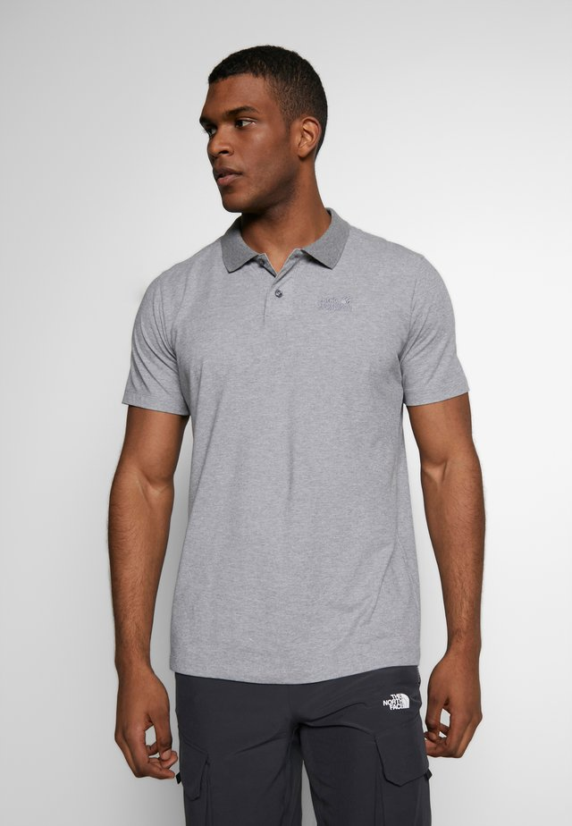 MEN - Polo - pebble grey